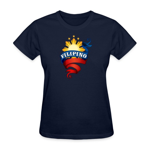 Standard Women's T-Shirt with Definitely Filipino Logo - Women's T-Shirt