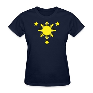 Standard Women's T-Shirt with 3 Stars and a Sun Logo - Women's T-Shirt