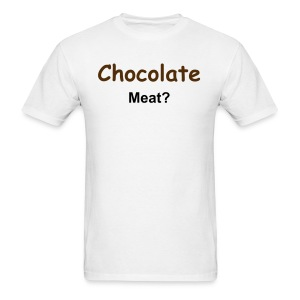 Men's Chocolate Meat (WHITE-BT) - Men's T-Shirt