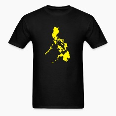 Men's Standard T-Shirt with Yellow Philippine Map