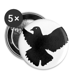 Chris is my hero Dove button-Black - Small Buttons
