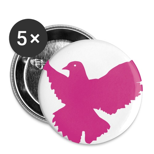 Chris is my hero Dove button-Pink - Small Buttons