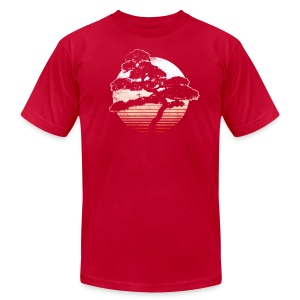 Bonsai Sunrise - Men's T-Shirt by American Apparel