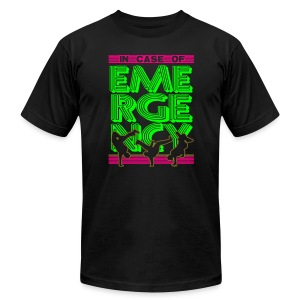 In Case of Emergency BREAK! Neon - Men's T-Shirt by American Apparel