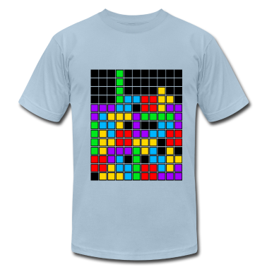Light blue tetris_game_over2 T-Shirts