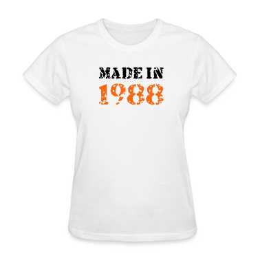 White Made in 1988 Women's T-Shirts
