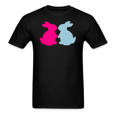 Black bunnies in love bunny rabbit lovers T-Shirts
