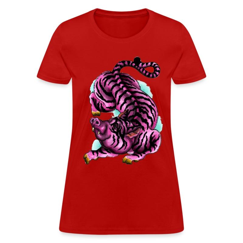 Pig-Tiger - Women's T-Shirt