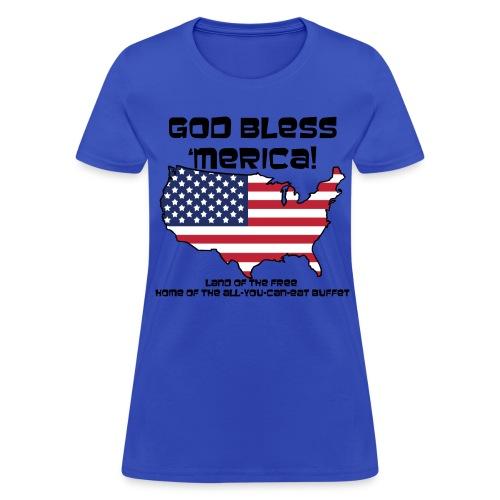 God Bless 'Merica! - Womens - Women's T-Shirt
