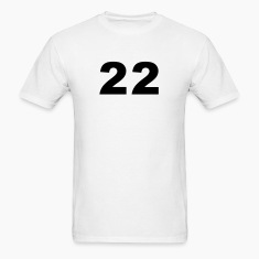 White Number - 22 - Twenty-Two T-Shirts