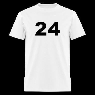 White Number - 24 - Twenty-Four T-Shirts