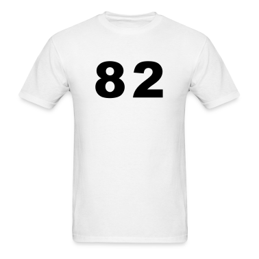 White Number - 82 - Eighty Two T-Shirts