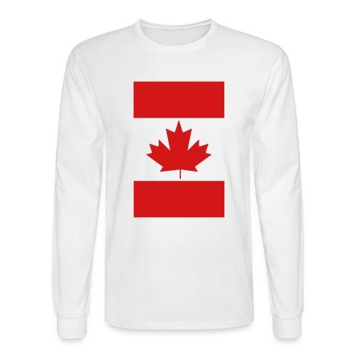 Vertical Canada Flag - Men's Long Sleeve T-Shirt