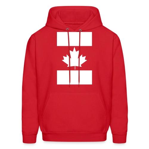 Vertical Canada Flag - Men's Hoodie