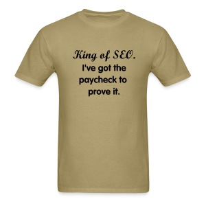 SEO King - mens std, blk txt - Men's T-Shirt