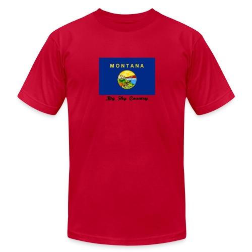 Montana Flag Tee - Men's  Jersey T-Shirt