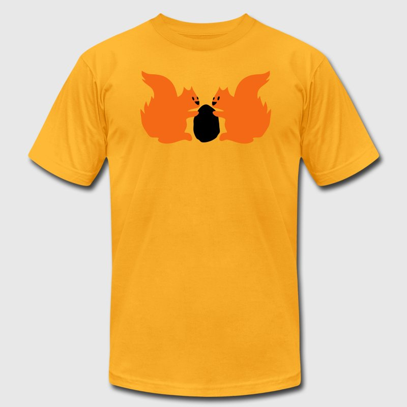 Gold squirrels sharing nuts T-Shirts - Men's T-Shirt by American Apparel