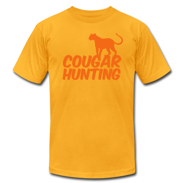 Gold COUGAR HUNTING T-Shirts