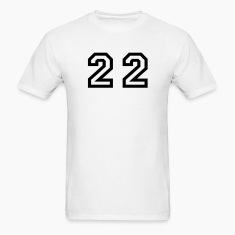 White Number - 22 - Twenty Two T-Shirts