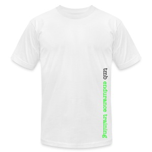 logo tee, white - Men's T-Shirt by American Apparel