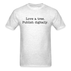 Tree love - mens std, blk txt - Men's T-Shirt