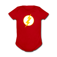 Baby Bodysuits ~ Short Sleeve Baby Bodysuit ~ SUPERHERO T-Shirt - Sheldon