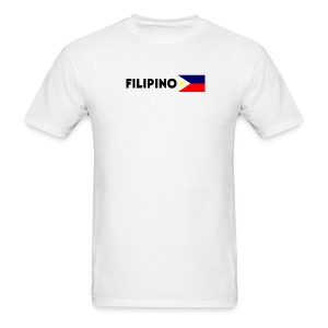 Filipino with Flag - Men's T-Shirt