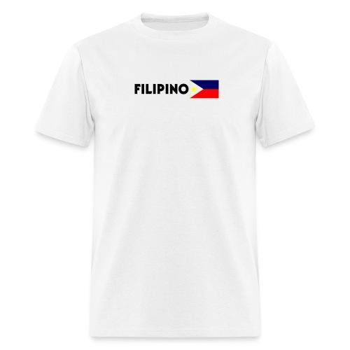 Filipino with Flag - Men's T-Shirt