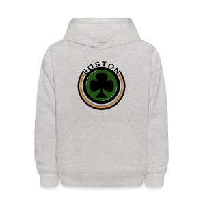 Boston Shamrock Shirt Kid's Hooded Sweatshirt - Kids' Hoodie