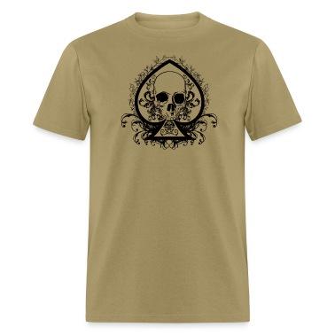 Men's Skull Spade Standard Weight T-Shirt