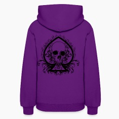 Women's Skull Spade Hooded Sweatshirt