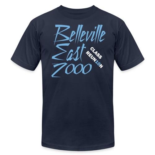 Belleville East Class of 2000 10-year reunion - Men's navy - Men's Fine Jersey T-Shirt
