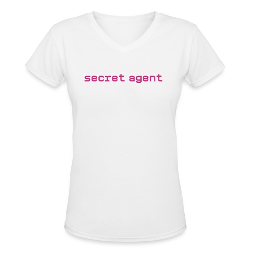 Girl Agent T - Women's V-Neck T-Shirt