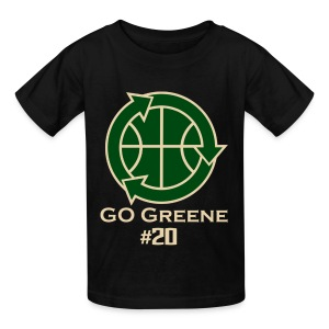 Go Greene Kids (Tan Text) - Kids' T-Shirt