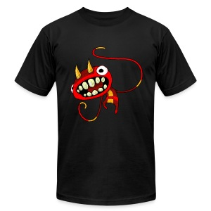 Jumping Devil Kid - Men's T-Shirt by American Apparel