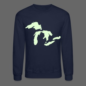 Just Michigan Glow in the Dark Men's Crewneck Sweatshirt - Crewneck Sweatshirt