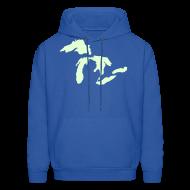 Hoodies ~ Men's Hoodie ~ Just Michigan Glow in the Dark Men's Hooded Sweatshirt