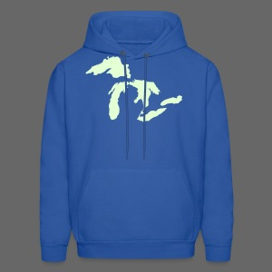 Just Michigan Glow in the Dark Men's Hooded Sweatshirt - Men's Hoodie