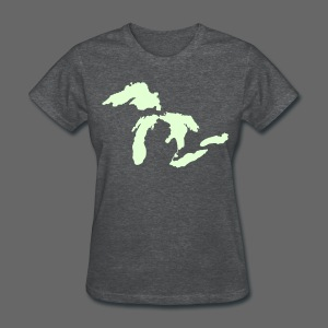 Just Michigan Glow in the Dark Women's Standard Weight T-Shirt - Women's T-Shirt