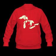 Hoodies ~ Women's Hoodie ~ Just Michigan Glow in the Dark Women's Hooded Sweatshirt