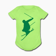 Mint green Ski jump B Baby Body