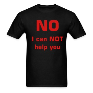 No help shirt - Men's T-Shirt