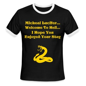 Micheal Lucifer T-Shirt - Men's Ringer T-Shirt