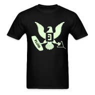T-Shirts ~ Men's T-Shirt ~ Eagle Glow-In-The-Dark