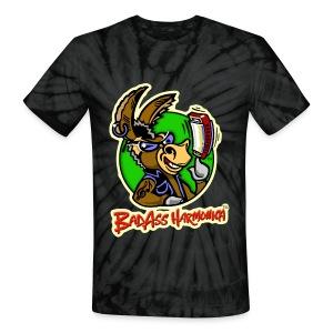 BadAss Harmonica tie-dye t-shirt (black) - Unisex Tie Dye T-Shirt