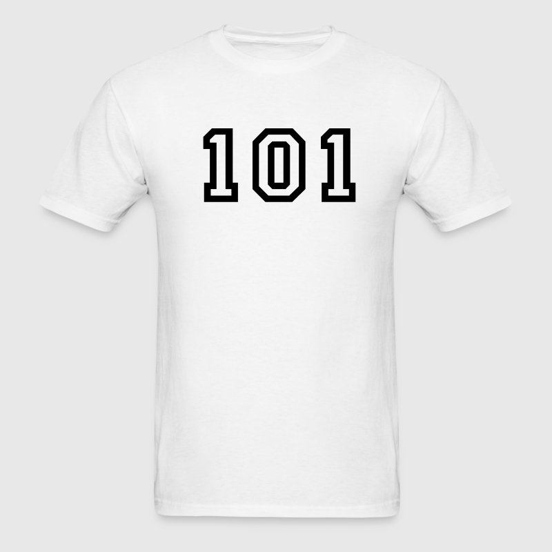 White Number - 101 - One Hundred and One T-Shirts - Men's T-Shirt