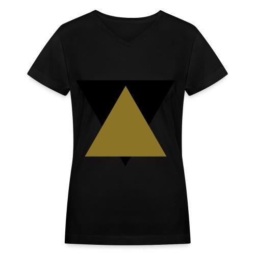 Hipster Gold - Women's V-Neck T-Shirt