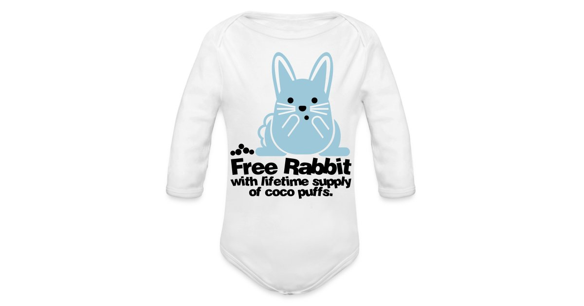 c0ed3b87cb Wear Animals | Baby One Piece - Free Rabbit - Organic Long Sleeve Baby  Bodysuit