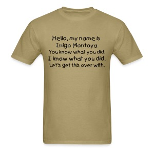 Inigo Montoya - blk txt, mens std. - Men's T-Shirt