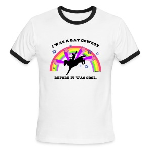 I Was a Gay Cowboy Before It Was Cool T-Shirt (Men's Ringer) - Men's Ringer T-Shirt